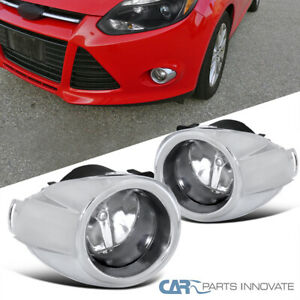 For 12 14 Ford Focus Fog Lights Front Driving Bumper Lamps Pair h11 Bulbs switch