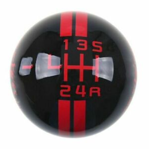 5 Speed Gear Shift Knob Shifter Black Red Ball For Ford Mustang Shelby Gt 500