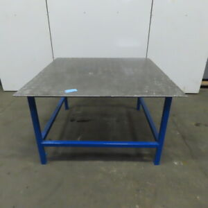 60 1 2 X 60 5 8 X 36 Steel Top 3 8 Fabrication Assembly Welding Bench Table