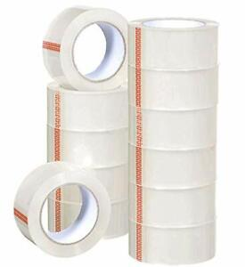 Heavy Duty Shipping Packaging Tape 6 Rolls With Dispenser 1 5 Core Packing