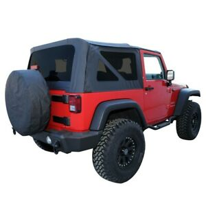 99935 Rt10535t Rt Off Road New Soft Top Black For Jeep Wrangler 2007 2009