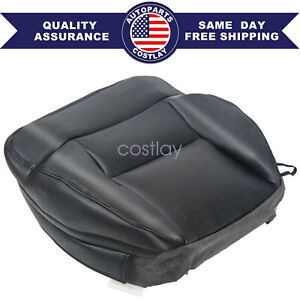 For 2004 2005 2006 2007 2008 Ford F150 Driver Bottom Seat Cover Black Leather