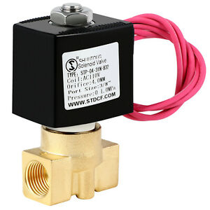 1 4 Inch Electric Brass Solenoid Valve 12v Dc Water Air Gas Fuels N c