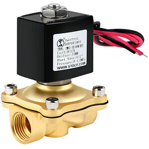 Brass Electric Solenoid Valve Dc 12v 1 2 Inch Npt N c For Water Air Gas Fuel