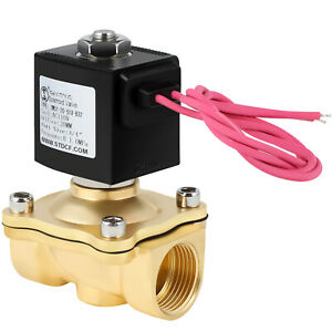 Electric Brass Solenoid Valve 3 4 Inch 110v Valt Ac Air Water Gas Viton N c