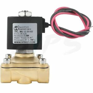 Electric Solenoid Valve Brass 3 8 Inch 12volt Dc For Air Water Gas Fuel Fkm