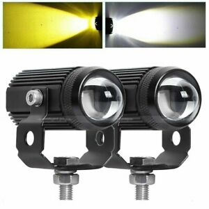 2x 1 3inch 120w Cree Motorcycle Led Work Light Pods Driving Fog Amber White Lam