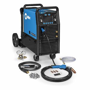 Miller 951766 Millermatic 255 Mig pulsed Mig Welder W Ez latch Running Gear