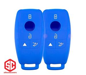 2x New Keyfob Remote Fobik Silicone Cover Fit For Select Mercedes Vehicles