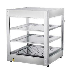 Commercial 24x20x20 3 tier Countertop Food Pizza Pastry Warmer Display Case In