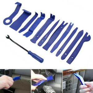 12pcs Plastic Car Radio Trim Removal Tool Door Clip Panel Dash Audio Pry Kit Us