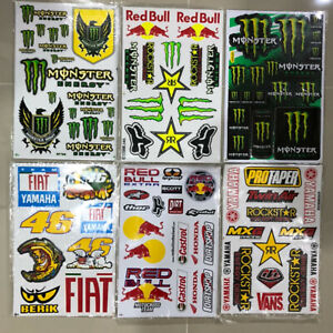 6 Rockstar Energy Motocross Atv Racing Graphic Stickers decals