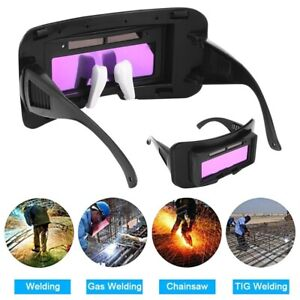 Solar Power Auto Darkening Welding Glasses Welder Mask Helmet Eye Tig Mig Goggle