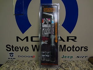 New Gorilla Power Extendable Wrench Telescoping Lug Wrench 17mm 19mm 21mm 23mm