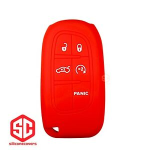1x New Keyfob Remote Fobik Silicone Cover Fit For Select Jeep Vehicles