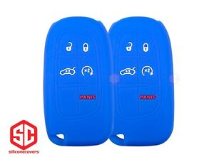 2x New Keyfob Remote Fobik Silicone Cover Fit For Select Jeep Vehicles