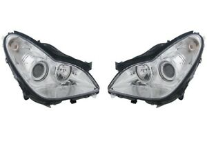 Hella Pair Set Of Front Headlight Assemblies For Mercedes W219 Cl63 Amg Cls500