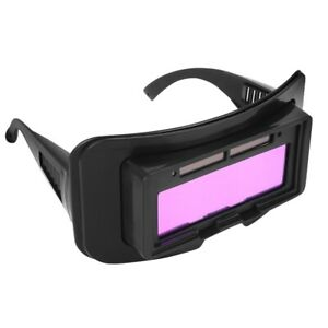 Solar Powered Auto Darkening Welding Mask Helmet Eyes Goggle Glasses With Band