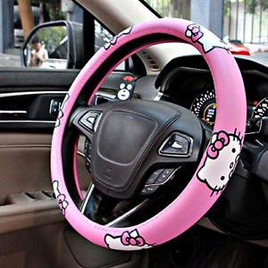 Carmen Hello Kitty Car Accessories 15 Inch Universal Steering Wheel Cover Soft