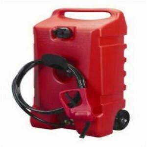 Portable Fuel Container Wheeled 14 Gal Flo N Go Fuel Handle Hand Transfer Pump