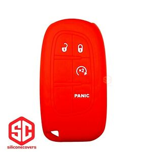 1x New Keyfob Remote Fobik Silicone Cover Fit For Select Jeep Ram Vehicles