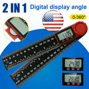 Electronic Lcd Digital Angle Finder Ruler Protractor 8 360 Gauge Measure Tool