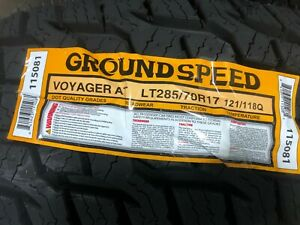 4 Lt 285 70 17 Groundspeed Voyager Tires 10 Ply 285 70 R17 70r 2857017 Truck