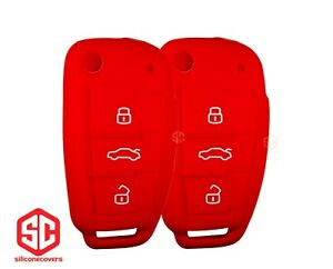 2x New Key Fob Remote Fobik Silicone Cover Fit For Audi