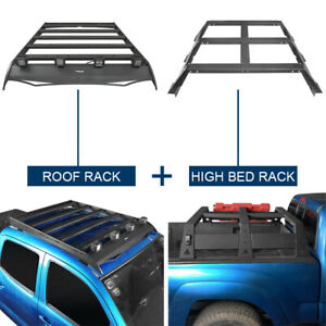 Black Steel Roof Cargo Rack Bed Cross Bar Combo Fit Toyota Tacoma 2005 2021