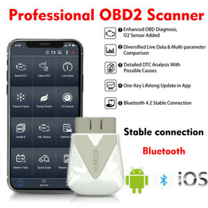 Obd2 Bluetooth Scanner Auto Car Diagnostic Tool Fault Code Reader Iphone Android