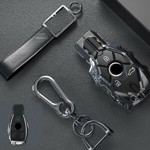 For Mercedes Benz Accessories Metal Car Styling Key Fob Cover Case Holder Skin