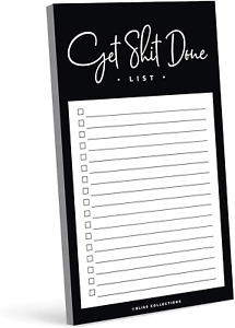 Bliss Paper Boutique Daily To Do List Notepad Funny Tear Off Pad Memo Pad For