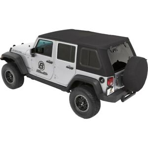 54863 17 Bestop New Soft Top Black For Jeep Wrangler Jk 2018