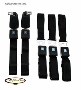 68 72 Chevelle oe Style Front Rear Seat Belt Kit gm Buckle Made In Usa