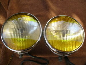 1938 1948 6 11 16 Inch B L C Guide Two Tone Fog Driving Lights Buick Gm Others