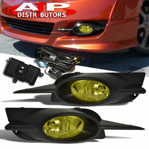 Yellow Driving Bumper Fog Lights Lamps Switch For 2009 2011 Honda Civic Coupe