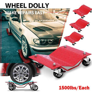 Heavy Duty Tire Car Wheel Dolly Dollies Skate Auto Repair Slide 4pc 1500lb each