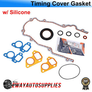 Ls Timing Chain Cover Gasket Set For 97 16 Chevy Gmc V8 gm Ls1 Ls2 Ls3 Ls6