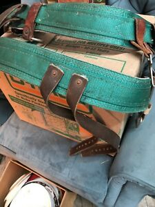 Buckingham Mfg Vintage Lineman Climbing Body Belt Former Nimo 2 Piece