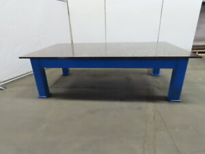 1 Thick Top Steel Fabrication Welding Layout Table Work Bench 108lx60wx31 3 4 h