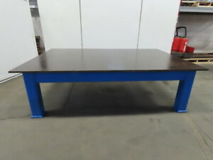 7 8 Thick Top Steel Fabrication Welding Layout Table Work Bench 109 lx72 wx32 h