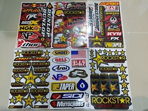 6x Rockstar Energy Racing Stickers Motocross Enduro Aufkleber Bike Metal Mulisha