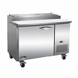 Ikon Ipp47 47 One Section Refrigerated Pizza Prep Table 12 Cu Ft