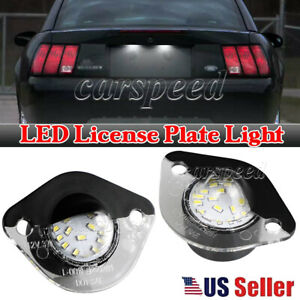 2pcs Led License Plate Light Tag Lamp Assembly Replacement Kit For Ford Mustang