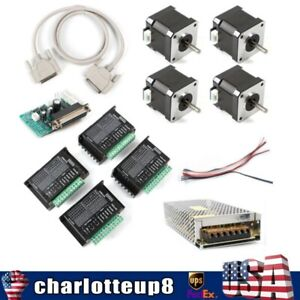 4 Nema 17 Stepper Motor 4axis Control Board Dm432 Driver Kit For Cnc Machine