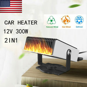 2 In 1 Auto Car Heater Cooling Fan 300w 12v Defroster Demister Portable New Usa