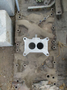 1969 Ford 351w Windsor Stock 2 Bbl Intake Manifold With Carb Spacer C90e