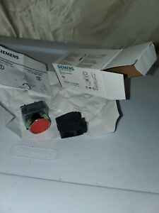 New siemens Pushbutton With Flat Button Red 3sb36 01 0ab61