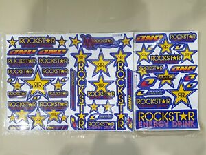 3x Rockstar Energy Drink Mulisha Motocross Yamaha Decal Racing Sticker Motogp