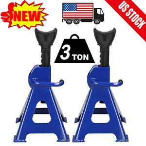 1 Pair Racing Jack Stand 3 Ton 6 000 Lb Heavy Duty For Car Truck Auto Adjustable